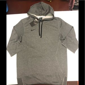 Nike Mens Flux Hoody 3/4 Sleeve Heather Grey small